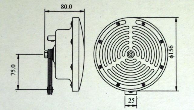 Схема электромагнитного устройства подачи звука