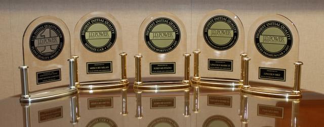 Награды компании J. D. Power and Associates