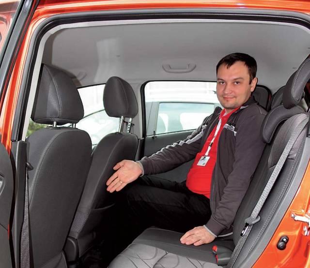 Высокий пассажир в авто