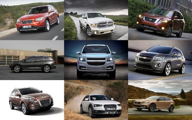 Различные модели внедорожных и городских авто