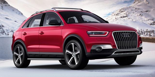 Audi Q3 имеет стильный внешний вид