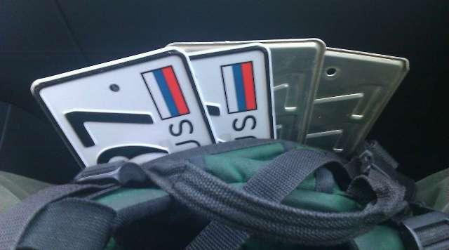Грабители могут украсть копии номерных знаков