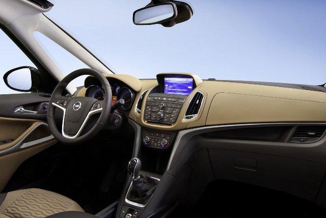 Салон автомобиля Opel Zafira